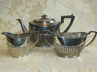Antique Collectable Silver Plated By L & W. S - 3 Pieces Tea Set