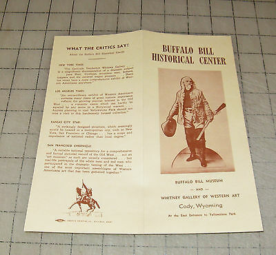 Vintage BUFFALO BILL HISTORICAL CENTER (Cody Wyoming) Fold-Out Leaflet