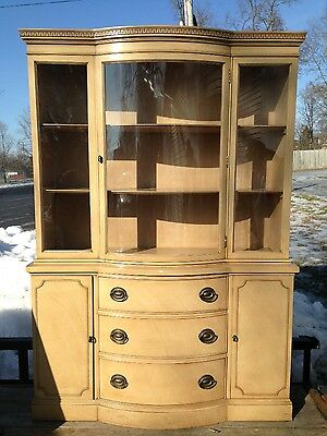 Vintage Drexel Dinning Room Set Table with 4 chairs and China Cabinet