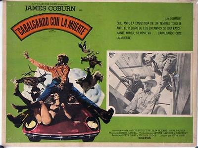 L597 The Honkers, Mexican movie lobby card James Coburn