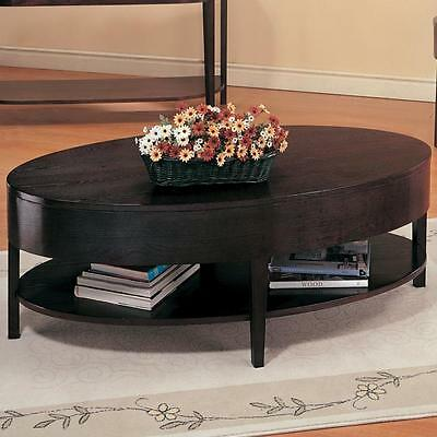 Coaster 3941 Gough Oval Coffee Table With Shelf