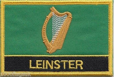Leinster Province of Ireland Flag Embroidered Patch Badge - Sew or Iron on