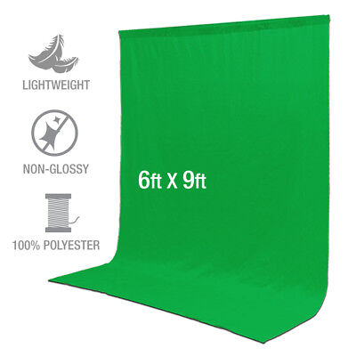 6 ft x 9 ft Polyester Green Screen Background Photography Photo Video Non Glossy