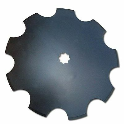 "20"" Disc Harrow Blade, Notched Fits 1"" Or 1-1/8"" Square Hole - Heavy Duty Boron"