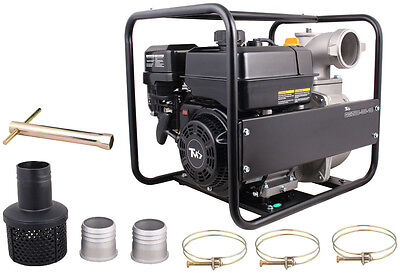 3'' Gas Fuel Water Pump 5.5HP Industrial Inlet Outlet Engine Sel-Priming Suction