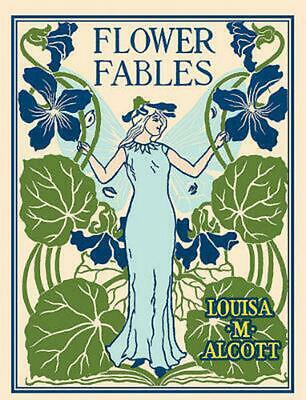 Flower Fables by Louisa May Alcott (English) Hardcover Book Free Shipping!