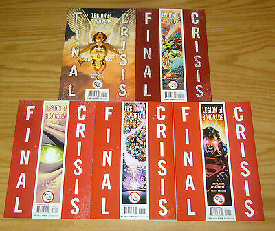 Final Crisis: Legion of 3 Worlds #1-5 VF/NM complete series - geoff johns set