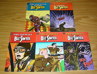 Official Buz Sawyer #1-5 VF/NM complete series - roy crane 2 3 4 pioneer set lot