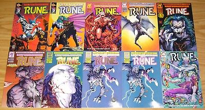 Rune #0 & 1-9 VF/NM complete series + v2 #∞ & 1-7 + poster + variant +giant-size