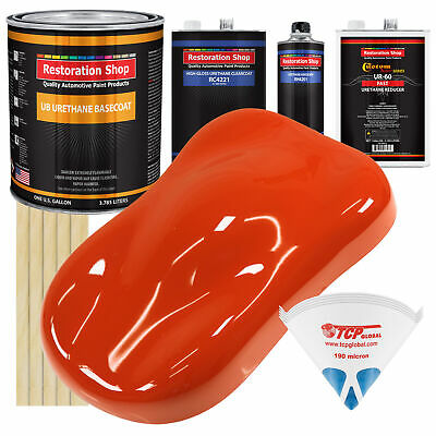 TRACTOR Red Gallon URETHANE BASECOAT CLEARCOAT Car Auto Paint FAST Kit