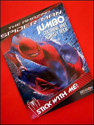 SPIDERMAN Jumbo Coloring Activity Book 96 Pages Xmas Stocking Filler FREE POST