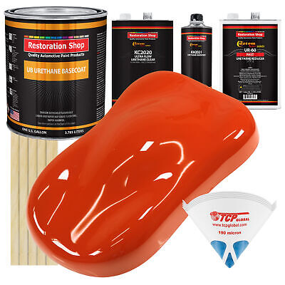 TRACTOR Red Gallon URETHANE BASECOAT CLEARCOAT Car Paint FAST Kit