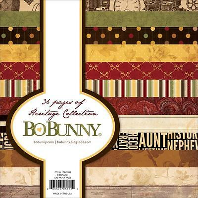 """Bo Bunny HERITAGE - 6x6"""" Paper Pad - 36 pages - Scrapbooking - Cardmaking"""