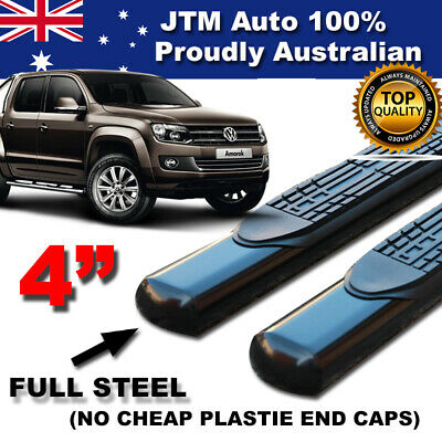 "Volkswagen VW Amarok 4"" Black Side Steps Running Boards 2010-2016"