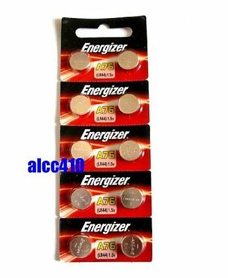 10pcs Energizer LR44 1.5V Alkaline Battery A76 303 357 L1154 AG13 SR44 Genuine