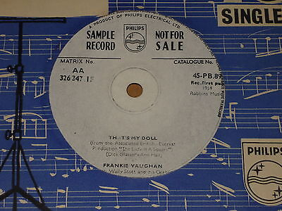 """Frankie Vaughan """"That's My Doll"""" Philips Demo 45"""