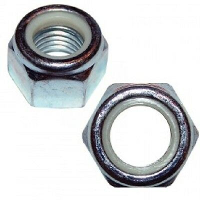 Stainless Steel Nylon Insert Lock Hex Nut UNC 3/8-16 (Qty 50) Made in USA