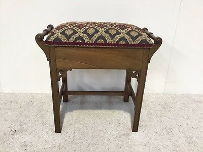 Antique Edwardian Mahogany Piano Stool Rare Design Loads More Furniture In Store