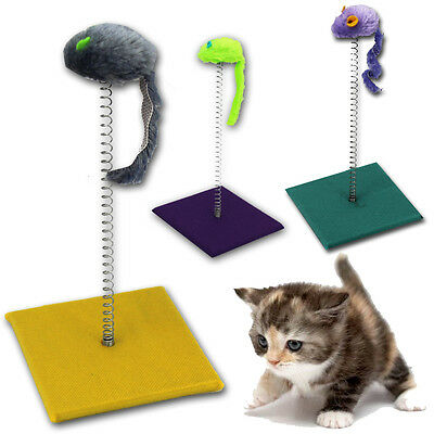 Cat Kitty Kitten Spiral Sway Play Activity Post Pet Toy Scratch Sisal Fun Mouse