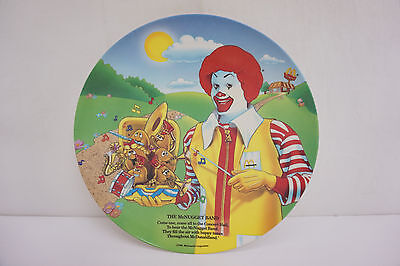 "Vintage 1989 Ronald McDonald's ""The McNugget Band"" Children's Dinner Plate"
