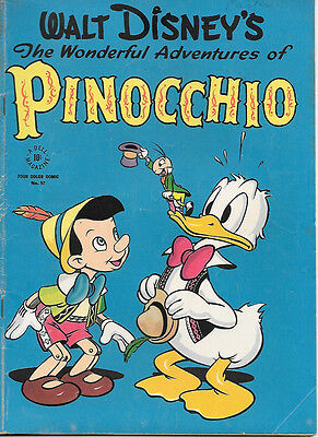 Walt Disney Pinocchio Four Color Comic Book #92, Dell 1945 VERY GOOD+/FINE-