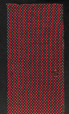 Antique 1860 White Polka Dots on Madder Fabric