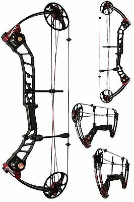 """Kinetic Rave Dual Cam Compound Bow (Balck/red) RH 20-55lb weight, 19-30"""" draw"""