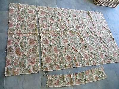 "Reupholster Italian Brocade Velour Fabric Part Plenty 4/6 Chairs 67"" x 50"""
