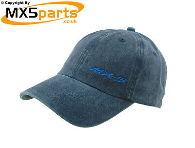 Official Mazda MX5 Merchandise Baseball Style Blue Cap With Small MX-5 Logo