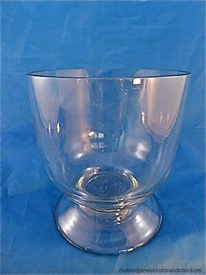 Lovely Handmade Glass Replacement Tea Caddy Mixing Bowl Antique Style