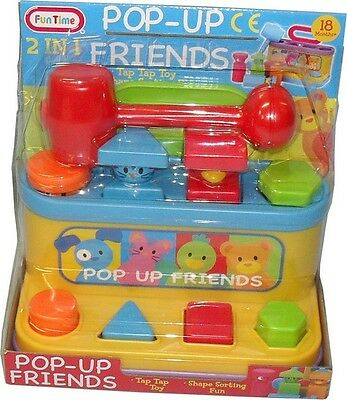 2 In 1 Pop Up Friends Shape Sorter Toy
