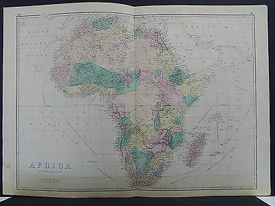 Antique Map, 1875, Africa