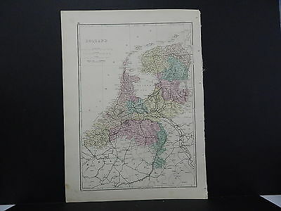 Antique Map, 1875, Europe, Holland