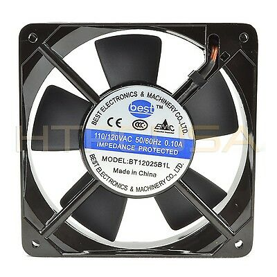 120mm x 25mm 110V 115V 120V Ball Bearing AC Cooling Fan – Low Speed NEW