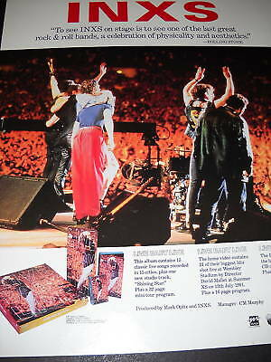 INXS See Them On Stage 1991 PROMO POSTER AD mint cond
