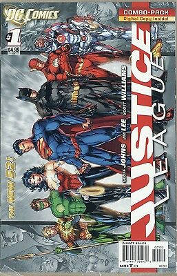Dc 52 Jim Lee Justice League #1 2Nd Print Variant Cover Combo Pack! Still Sealed