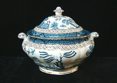 AG Harley Jones Ye Old Chinese Willow Soup Tureen w/Lid