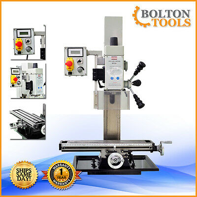 "Bolton Tools 20"" x 5 1/2"" Vertical Bench Top Milling Machine Drill Free Shipping"