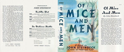 John Steinbeck OF MICE AND MEN facsimile dust jacket for first & early editions