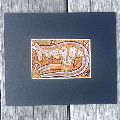 Australian Made - Aboriginal Art Print Kangaroo