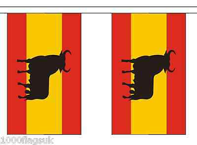 Spain Osborne Bull Polyester Flag Bunting - 3m long with 10 Flags