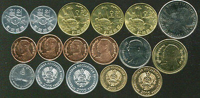 Mixed Different 17 Coins Unc