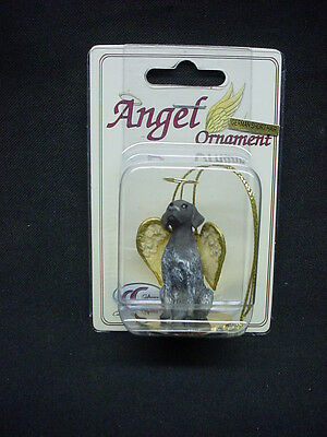 GERMAN SHORTHAIR POINTER dog ANGEL ORNAMENT Figurine Statue NEW Christmas puppy