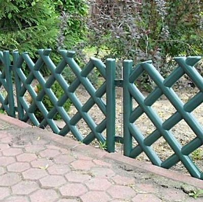 Plastic Garden Fence Panels Boarder Lawn Palisade Edge Patio Fencing GREEN PJPOB