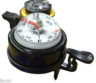 Bicycle Bike Two in One Metal Ring Alarm Bell with Compass Ball Handlebar