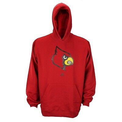 Adidas NCAA Men s Louisville Cardinals NCAA Men s Fleece Pullover Hoodie -  Red 636a8e988