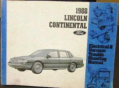 1988 Lincoln Dealer Electrical & Vacuum Diagram Service Manual Continental