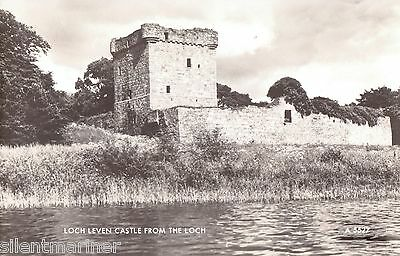 Loch Leven Castle fron the Loch, b+w RP postcard, unposted