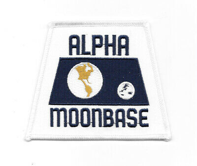 Space: 1999 TV Series Alpha Moonbase Model Logo Embroidered Patch, NEW UNUSED