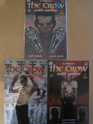 "The CROW : ""WILD JUSTICE"" : COMPLETE 3 ISSUE SERIES. ADLARD. KITCHEN SINK.1996"